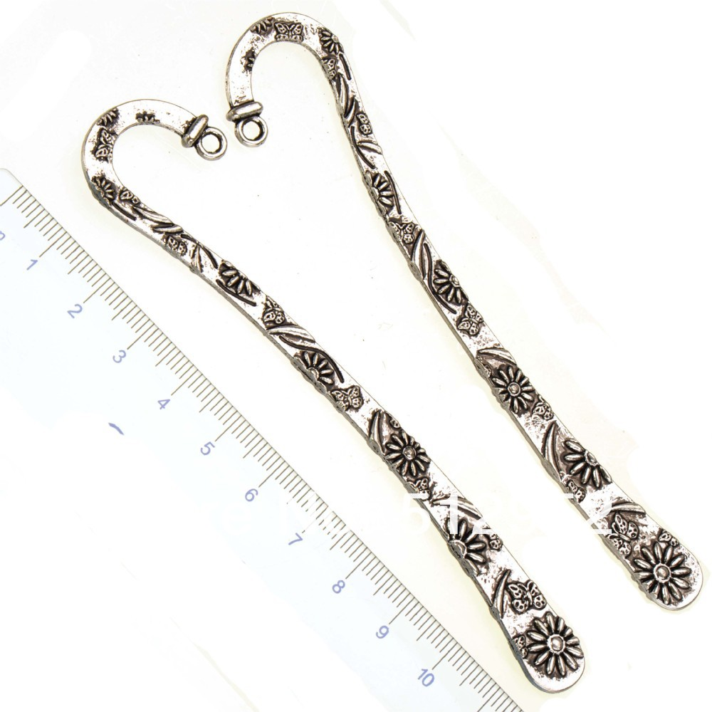 schools office supplies stationery bookmarks diy gifts wedding jewelry findings large flower metal antique silver new 119mm 5pcs(China (Mainland))