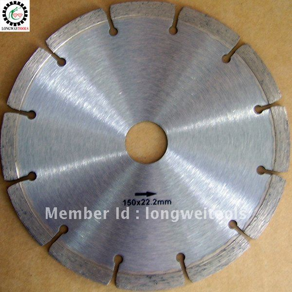 """150mm cold press segment 6""""saw disc concrete stone concrete wall plunge-cut saw power tool accessories for granite,marble(China (Mainland))"""