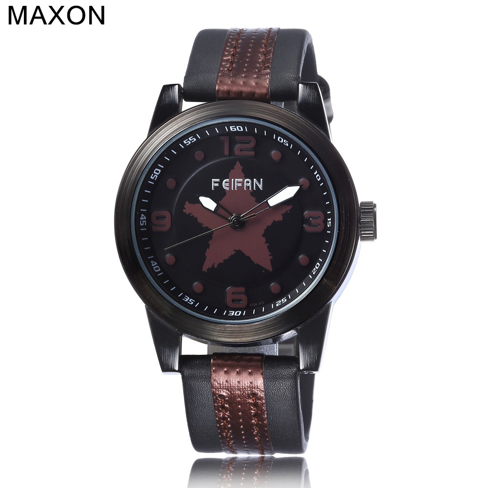 Maxon 2016 mens watches top brand luxury retro belt watch digital dial clock casual mens watches student watch leisure table677<br><br>Aliexpress