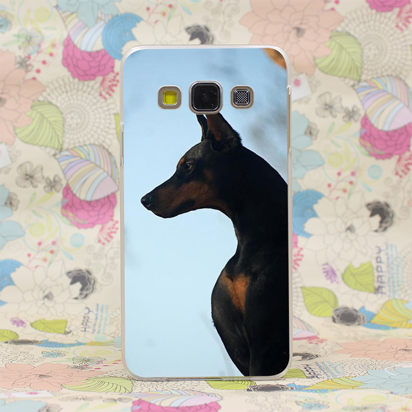 296HJ Doberman Dog 3 Hard Transparent Case Cover for Galaxy A3 A5 7 8 J5 7 Note 2 3 4 5 & Grand 2 Prime(China (Mainland))