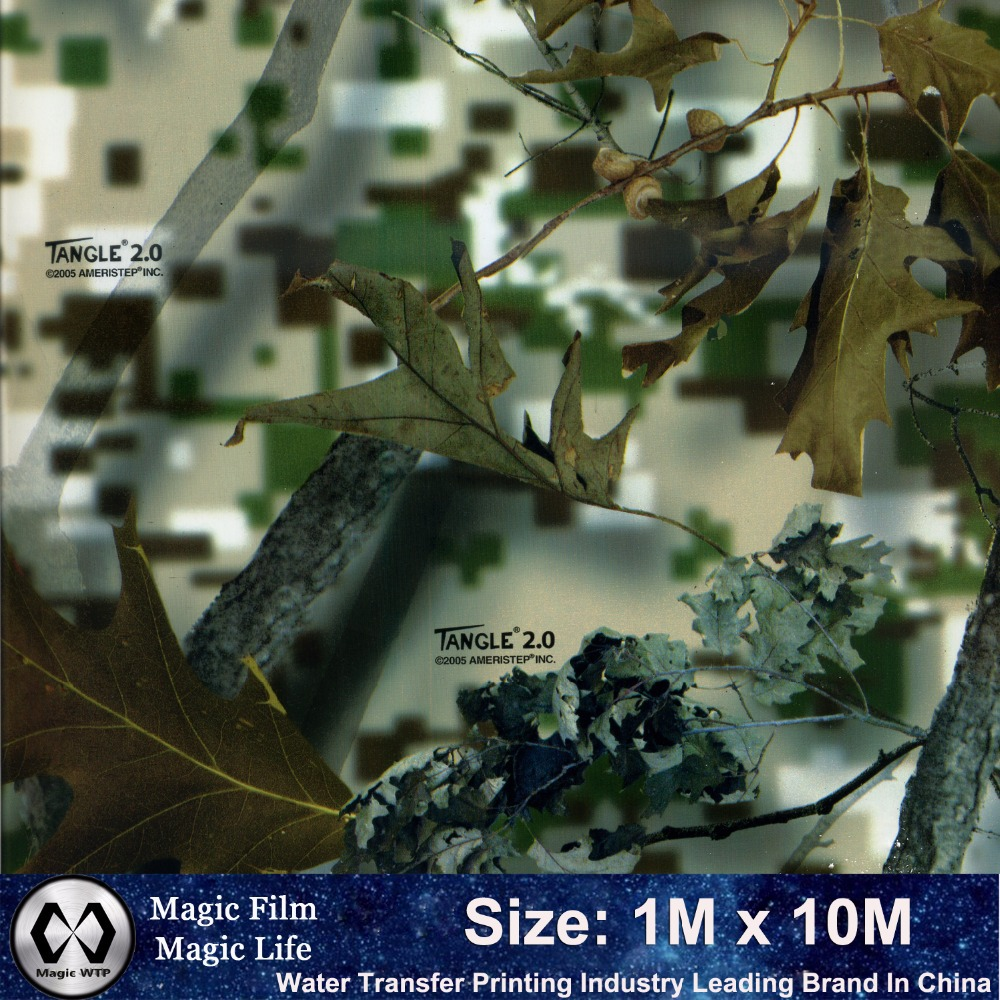 Hot Sale NO. M-12990 Hydrographic Film Camo Water Transfer Printing Width 1M Length 10M Water Transfer Printing Film(China (Mainland))