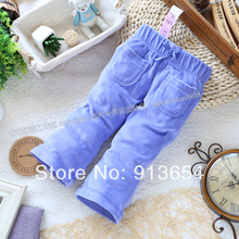 new 2014 spring autumn kids pants baby clothing child blue casual pants baby girl / boys sports leggings single tier pants(China (Mainland))