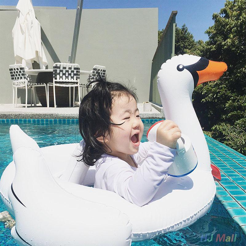 Children Baby Swimming Pool Float Inflatable Swan Inflatable PVC White Swan Swimming Ring Toddler Float Water Toy Water Mattress(China (Mainland))