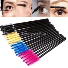 1Set 50PCS Disposable Eyelash Brush Mascara Wands Applicator Makeup Cosmetic Tool 5pw