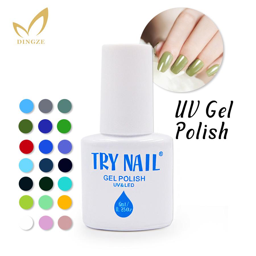 (DA031-060)TRY NAIL Free Shipping Three Steps Nail Gel Lacquer Need Base Gel Top Coat Grass Green Soak Off Gel Polish LED UV Gel(China (Mainland))