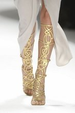 Eye Catching Women Gold Summer Boots Gladiator Boots Cut Outs Sandals High Heels For Wholesale(China (Mainland))