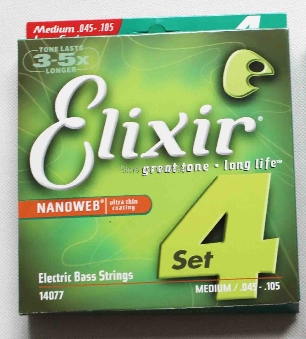 14077 ELIXIR ELECTRIC BASS STRING MEDIUM .045--.105(China (Mainland))