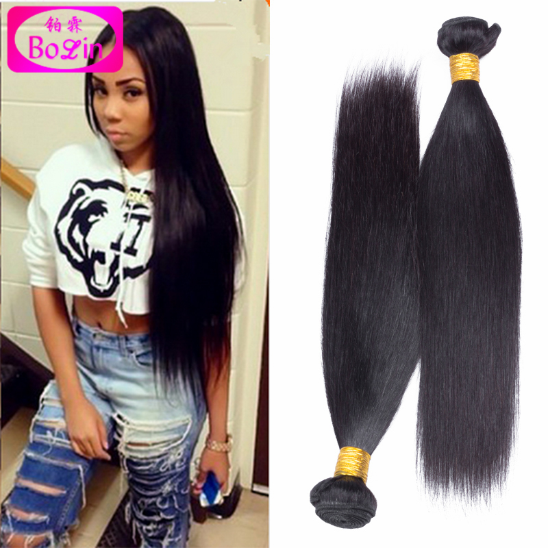 6A Brazilian Virgin Hair Straight Unprocessed Brazilian Straight Hair Extension Human Hair Weave 4 Bundles Free Shipping