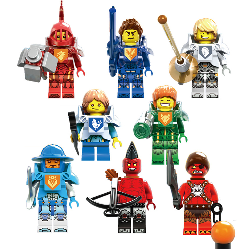2016 NEXO Knights Royal Soldier Lance Crust Smasher Minifigures Knight's Cycle Compatible lego Building blocks toy  -  yoyo DIY-store store