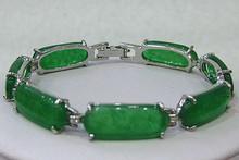 Free Shipping  18K GP Green  Jade Bracelet(China (Mainland))