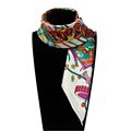 60cm 60cm Women 2016 New Fashion Imitated Silk Brand Time Laboratory Printed Square Scarf Hot Sale