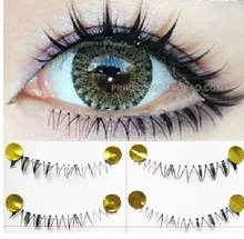 Free shipping 2014hot sale10Pairs Hand made fashion low eye lashes False Eyelashes Natural Long Thick  Beauty Health Makeup