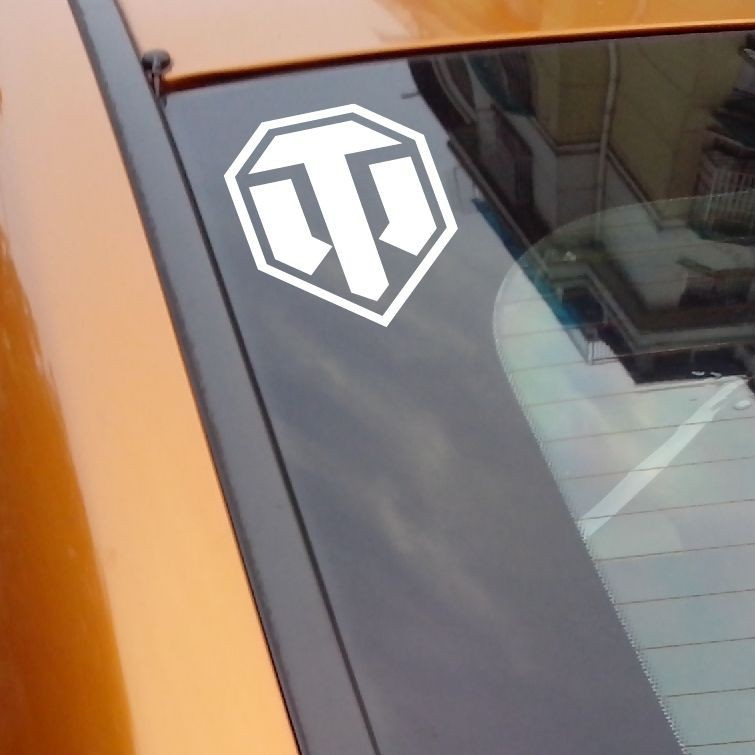 World of Tanks Car Sticker And Vinyl Decals Black Reflective Silver Car Styling Decal 10 7