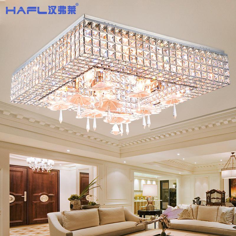Square led living room ceiling lights lamp is modern for Living hall lighting design