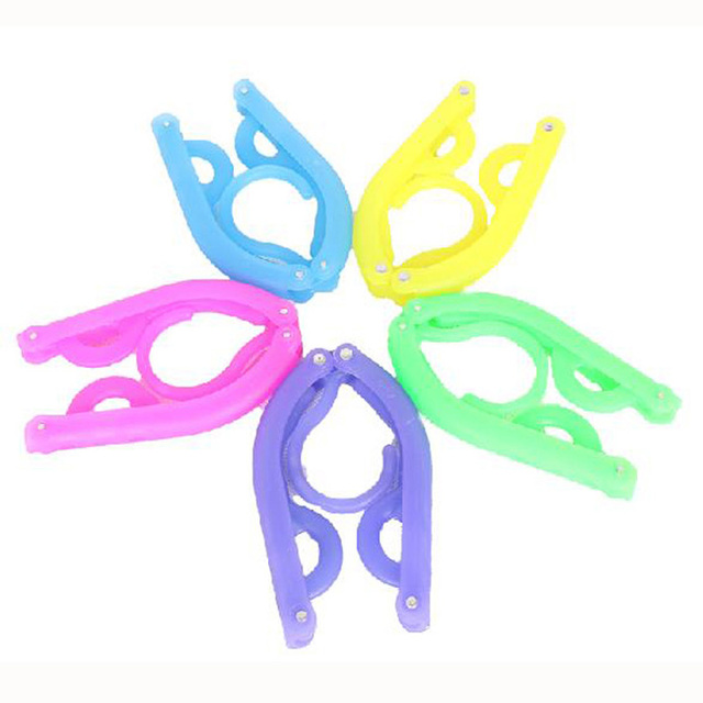 10pcs/lot Fashion Plastic Folding Magic Hanger, Home Travel Clothes Coat Dress Underwear Hanger Mixed Colors