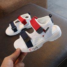 קיץ סנדלי בנות נעלי עור 2019 אופנה לפעוטות בני חוף סנדלי צבעוני ילדי תינוק נעלי ילדים סנדלים לבנים(China)