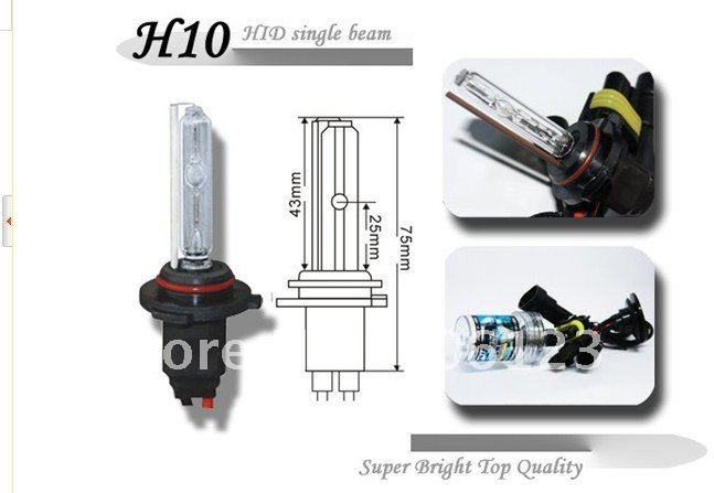 supply free shipping H10 xenon hid bulb H10 HID automobile lighting 35W 55W hid bulb Aftermarket Lights Automobile Fog Lights(China (Mainland))