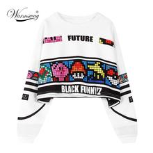 woman's sweatshirt harajuku letters sexy crop top punk hip-hop hoody large size sudaderas mujer fashion feminino moleton WH-063(China (Mainland))