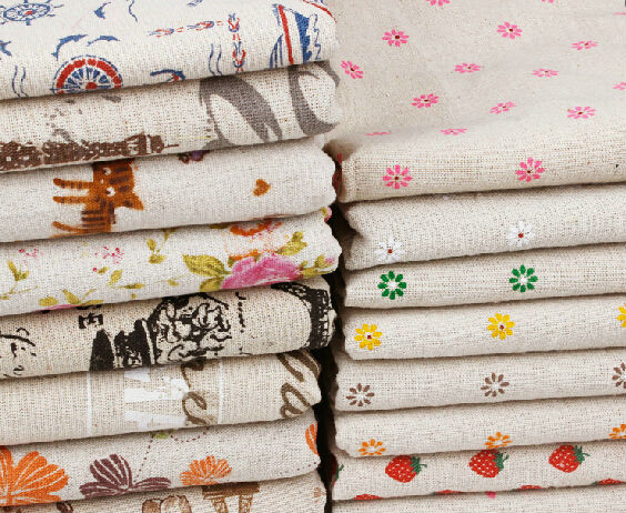 150cm width 57colors Flower printed linen Fabric floral Cloth Garments Crafts Accessories G1502(China (Mainland))