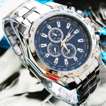 New 2015 Brand Quartz watches Men Business Watch Luxury watches Man full Steel watch drop shipping
