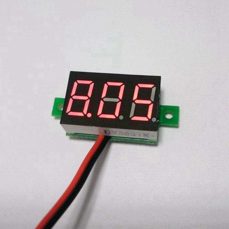 Free shipping 10pcs/lot DC 2.5-30V red led digital display voltmeter car motor motorcycle watt volt voltage panel meter gauge<br><br>Aliexpress