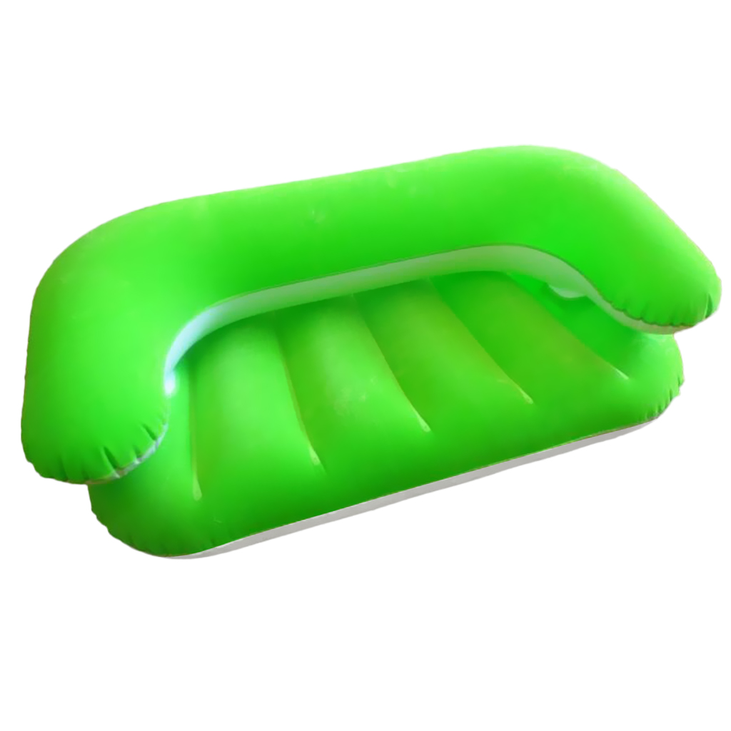 Childrens Flocking Inflatable Sofa Lounger Chair Bean Bag for Backyard Beach Traveling Camping Picnics