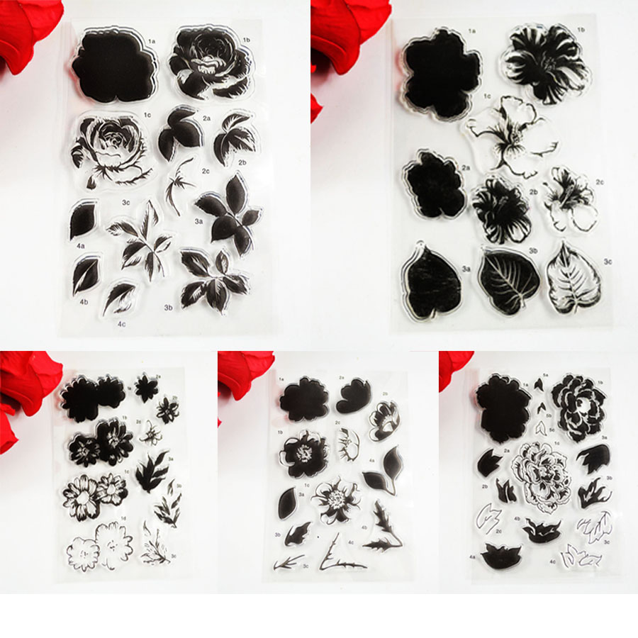 Block frame Flowers stick figure series TPR clear stamp Transparent Stamp For DIY Scrapbooking/Card Making/ Decoration Supplies(China (Mainland))