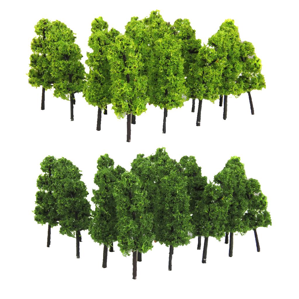 10 stücke Modell Zug Bäume Eisenbahn Wargame Zubehör Grüne Kiefer 5,5 cm