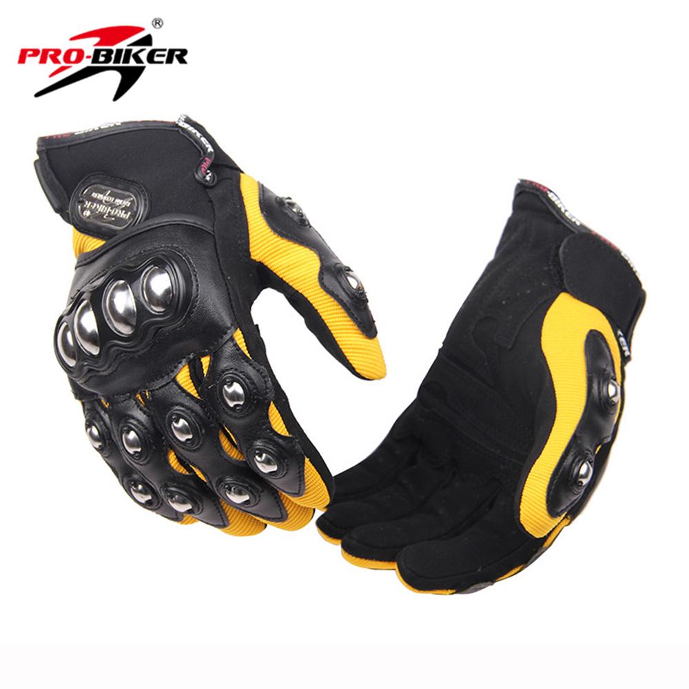 PRO-BIKER Men Motorcross Off-Road Full Finger Motorcycle Gloves Racing Luvas De Moto Riding Gloves Guantes Protection Hands(China (Mainland))