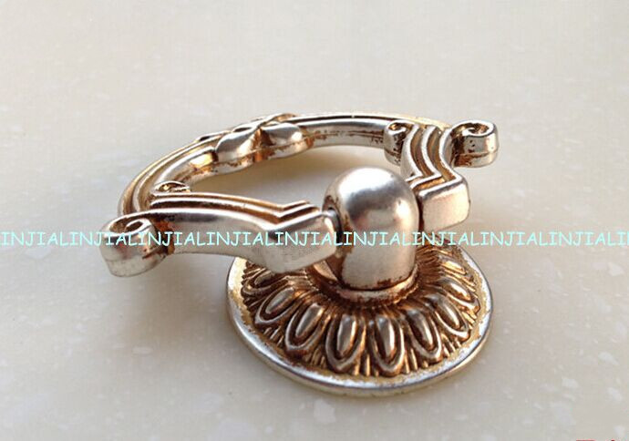 Dresser pull knob Drawer knob pull antique silver cabinet cupboard handle knob antique shaky drop ring furniture decoration knob