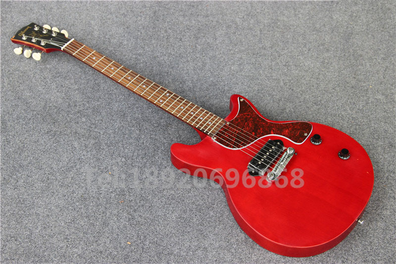 China guitar factory Direct Supplier New arrival Aged Red electric guitar Studio Model In stock, Free Shipping(China (Mainland))