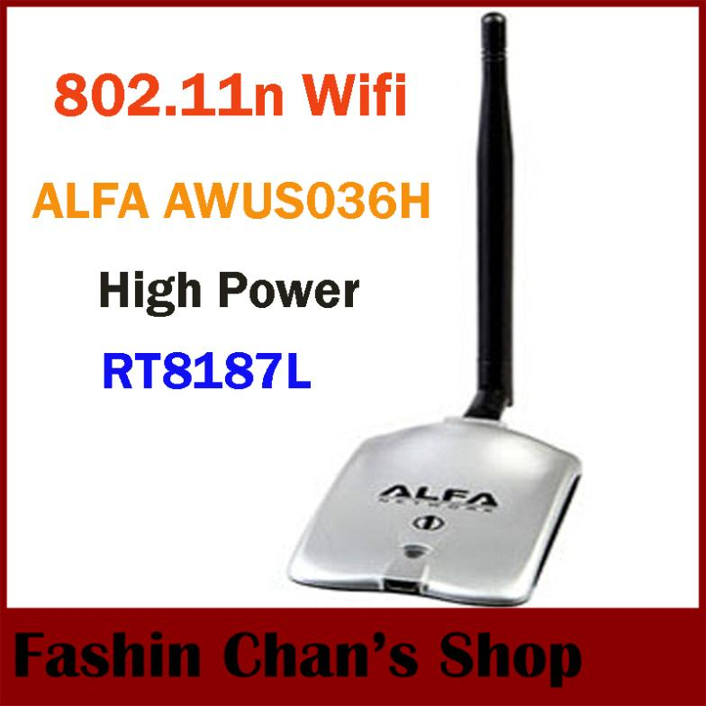2015 New High Tech ALFA AWUS036H 1000MW WIFI Wireless USB Network Adapter 5DB Antenna with Realtek8187L,Wholesale Dropshipping(China (Mainland))