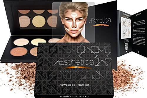 Aesthetica Cosmetics Contour and Highlighting Powder Foundation Palette/Contouring Better Than ABH Beverly Hills Makeup Kit(China (Mainland))