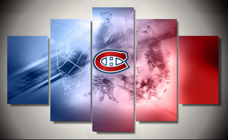 unframed Printed Hockey poster 5 pieces Group Painting room decor print poster picture canvas Free shipping(China (Mainland))