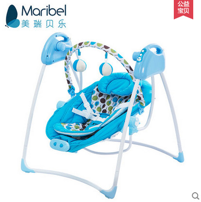 Blue Dot baby electric rocking chair bouncer intelligent baby swing chair placarders bb chaise lounge music concentretor(China (Mainland))
