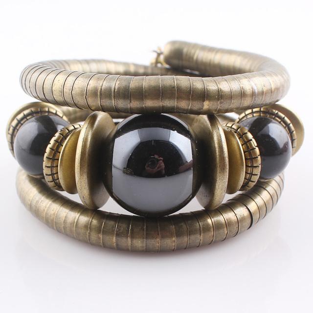 Горячие ювелирные изделия тибетский античная бронзовая змея браслет смолаы бирюзовый ...
