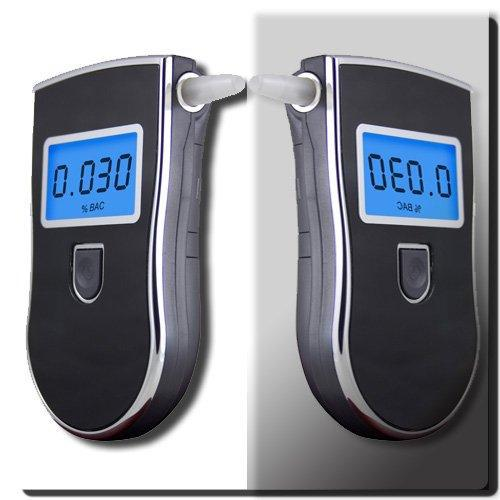 Professional Breath Alcohol Tester with 3 digital LCD display & blue backlight & 5pcs Mouthpiece Digital Breath Alcohol Tester(China (Mainland))