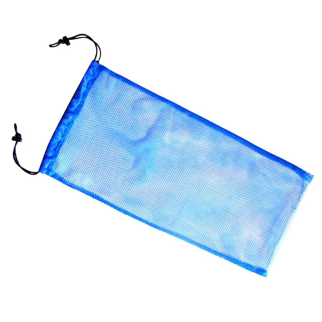 Blue Safety Scuba Diving Snorkel Swimming Fins Flippers Shoe Storage Carry Mesh Bag Pouch 20KG for Gear Equipment Dive Accessory