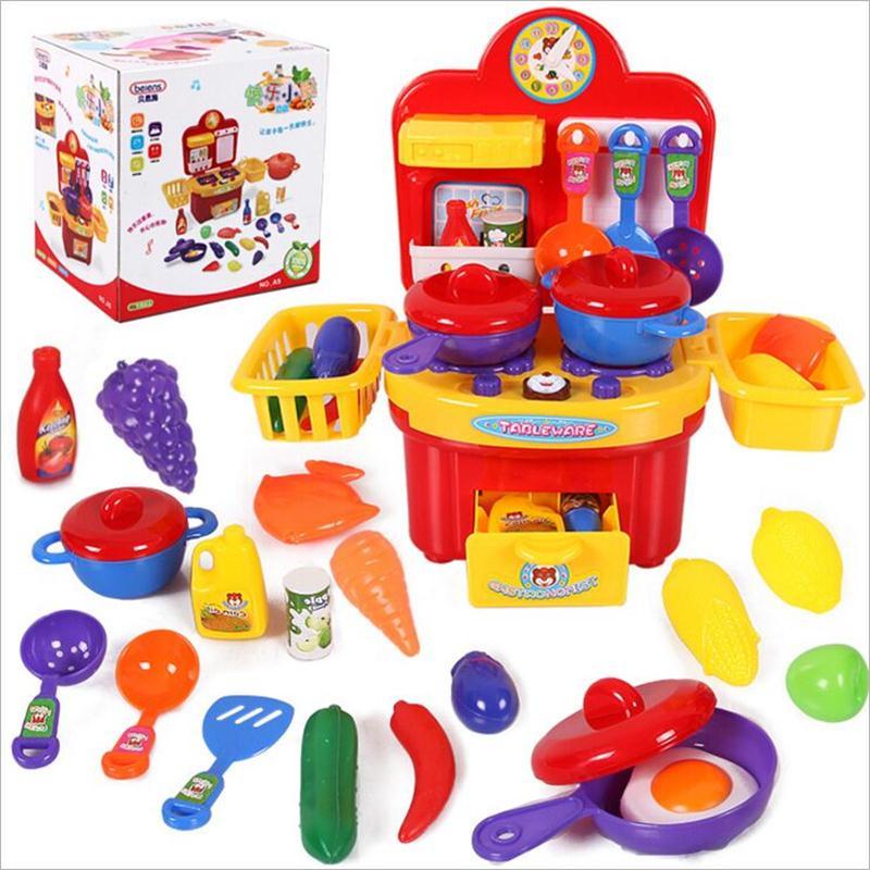 cocina de juguete de simulacin de juguetes de cocina para nios de las muchachas del cabrito juego de imaginacin set de juguet