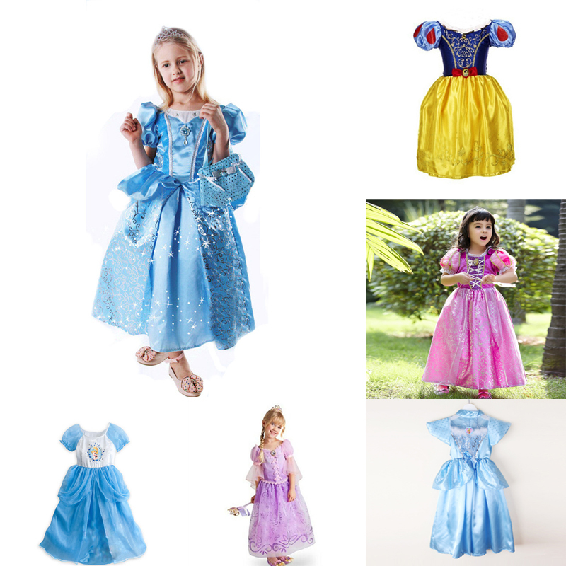 Baby Girls Belle Costume Dress Campanilla Hada Fiesta Dress Girls Fairy Costumes Fantasia Dress Princess Infantile 3-9Y(China (Mainland))