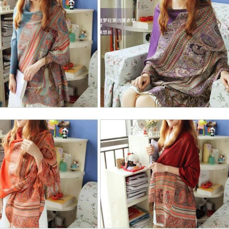 Autumn and winter scarves High quality lady joker retro jacquard silk scarves winter scarf shawl(China (Mainland))