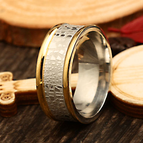 Luxurious paragraph fashion new 18K gold plated serpentine 316L titanium stainless steel rings JZ254(China (Mainland))