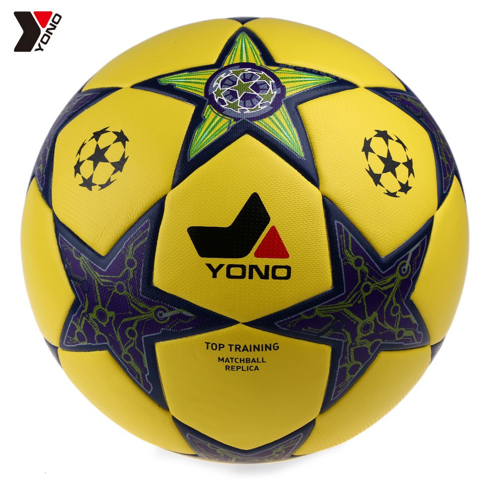 Professional Yellow PU Material Soccer Ball High Quality Football Outdoor Game Team Fitness Sport Exercise For Football Training(China (Mainland))