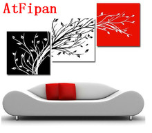 Buy AtFipan 3P Modern Poster Wall Art Abstract Oil Painting Canvas Tree Modular Pictures Home Decor Wall Pictures Living Room for $10.71 in AliExpress store