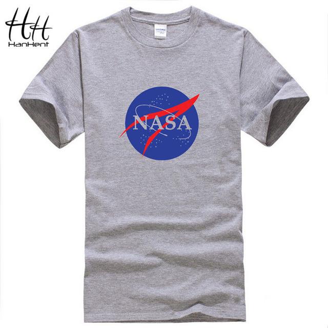 HanHent НАСА Мода Мужская Футболка Новый Летний стиль Ситец Мужчины майка Пространство Случайные Фитнес Одежда Топы Тис TH0376
