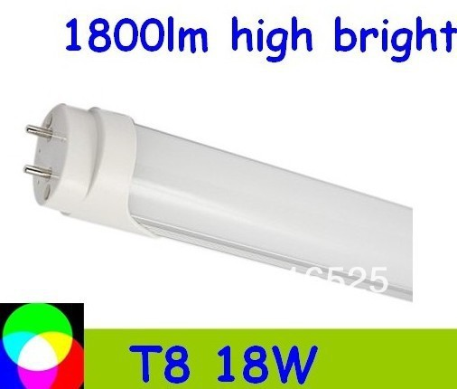 hot sell 100pcs T8 LED Tube 1200mm Light 18W SMD288pcs Warm White/Cool White 1800lm PC Cover Free shipping