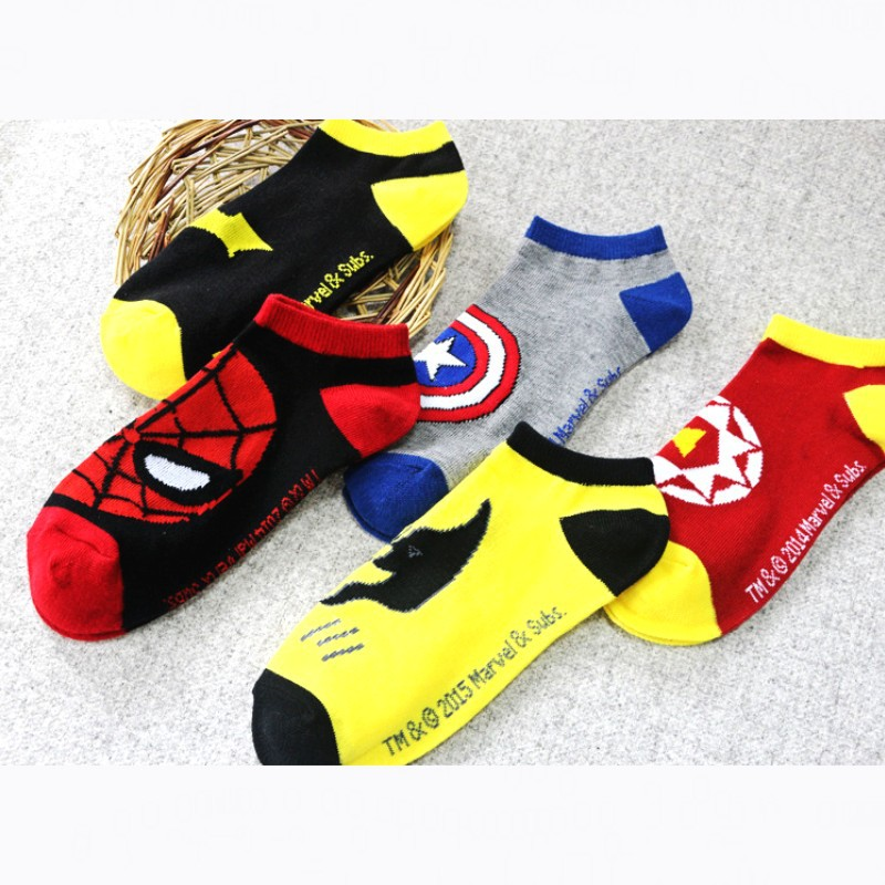 Iron Man Pattern Pattern Socks Iron Man