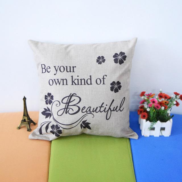 Будьте своим собственным вид красивой новый горячий стул подушку чехлы творческий подушка обложка симпатичные подушка