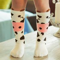 5 Colour  Cute Children Sock Print Animal Cotton Baby Kid Sock Knee High Long Fox Socks For Toddler Girl Clothing Accessories