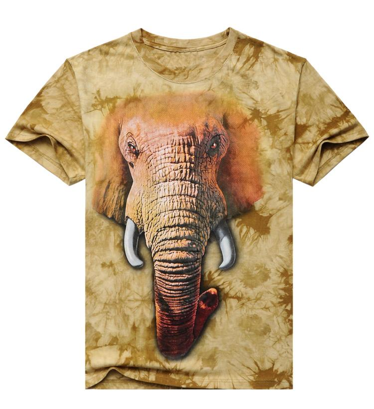 HTB1rS.FJpXXXXc2XFXXq6xXFXXXh - 2017 Men 3D T Shirt Animal Short Sleeves Cotton O-Neck Tiedye Personalized T-Shirt Water Printed Tee Shirts T-Shirts Clothes A8